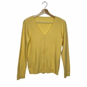 💕3/$30 Yellow Zip-Up Ribbed Sweater